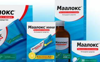 Показания к применению препарата Маалокс при гастрите